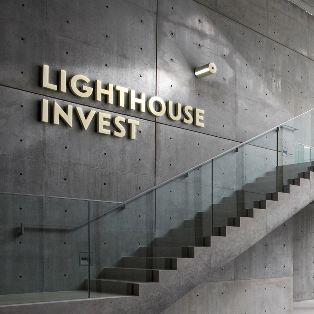Lighthouse Invest: Логотип и фирменный стиль финансового бутика из Таллина